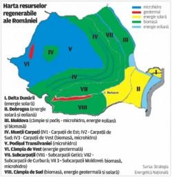 harta resurselor regenerabile ale romaniei