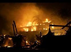 incendiu de vegetatie la santa barbara