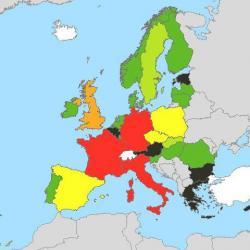 harta europeana a zgomotului