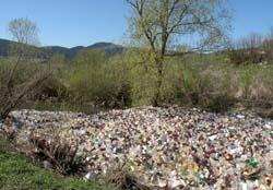 Jandarmii au curatat malul raului Bistrita