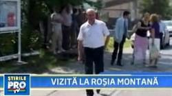 """""""Trebuie sa impacam istoria cu economia!"""" - Traian Basescu la Rosia Montana in 2009"""