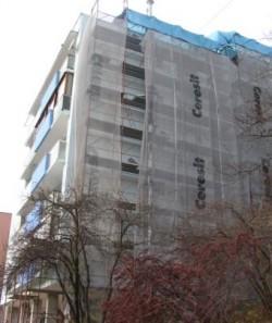 Au taiat arborii pentru ca… incomodau reabilitarea blocului