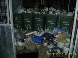 Cum arată un punct de colectare a gunoiului din Cluj