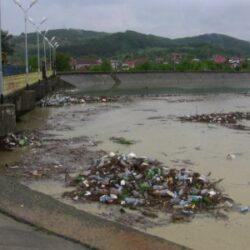 Râul Argeş ar putea intra în cartea recordurilor în ceea ce priveşte numărul de PET-uri plutitoare pe apele sale