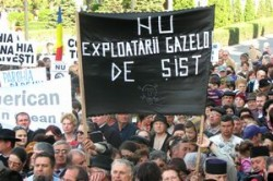 Protest impotriva explorarii si exploatarii gazelor de sist prin fracturare hidraulica