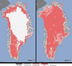 Cresterea temperaturilor din Groenlanda, din cauze naturale