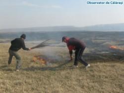 Agricultorii care incendiaza miristile, fara acordul APM, risca sa primeasca amenzi drastice