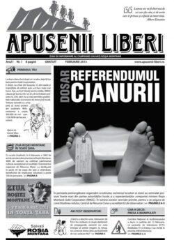 """Campania """"Salvati Rosia Montana"""" a distribuit prima editie a ziarului """"Apusenii Liberi"""" in 30.000 de exemplare"""