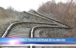 Linia de cale ferata Galati - Barlad, distrusa din cauza unei alunecari de teren