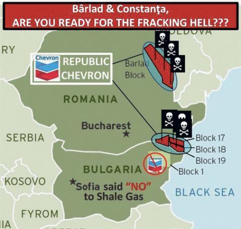 Orase din Moldova ce stau in calea pustiirii explorarilor gazelor de sist facute de firma Chevron in judetul Vaslui