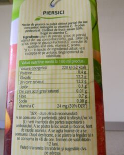 "Ce ascunde eticheta: ""Tymbark Nectar piersici"" induce in eroare consumatorii"