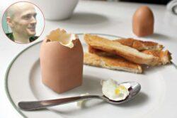 A facut primul ou patrat! Ai manca asa ceva?
