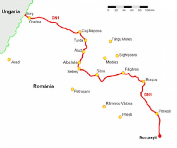 Drumul National 1 este cel mai zgomotos din Romania