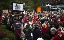 """Manifestatiile impotriva alimentelor modificate genetice iau amploare in SUA: """"Monsanto ne otraveste copiii!"""""""