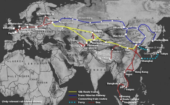 O noua ruta de transport feroviar leaga China de Europa, prin Romania