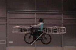 Bicicleta cu elice care merge pe baterii