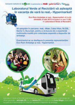 Laboratorul Verde al Reciclarii te invita in vacanta de vara la real,- Hypermarket!