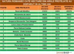 Cate arii naturale a pierdut Romania. Topul celor mai afectate zone