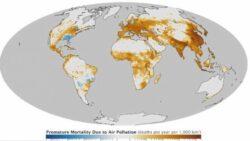 Harta mondiala a zonelor in care oamenii se confrunta cu cel mai mare risc de a muri din cauza poluarii