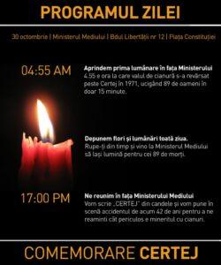 Eveniment: Comemorarea victimelor accidentului minier cu cianuri de la Certej (1971)