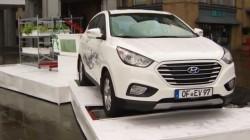 Hyundai foloseste o masina cu pila de hidrogen pentru a creste o gradina