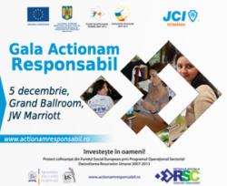 "Gala ""Actionam Responsabil!"" premiaza proiectele de responsabilitate sociala"