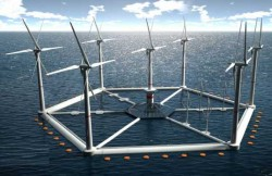 Japonia: Inaugurarea unei turbine eoliene plutitoare in largul Fukushima