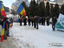 La Campeni, motii au protestat pe temperaturi negative impotriva proiectului minier de la Rosia Montana