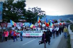 Un nou protest al motilor impotriva proiectului Rosia Montana