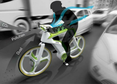 Bicicleta care te protejeaz? de poluare
