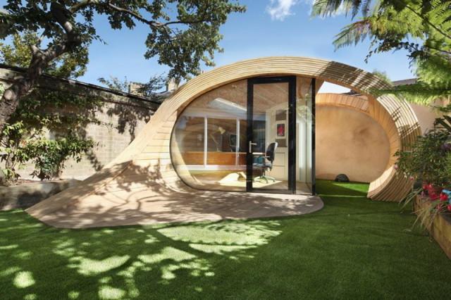 Shoffice: eco-birouShoffice: eco-biroul în curtea din spatel în curtea din spate