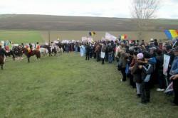 Un grup de protestatari din Pungesti a incercat sa patrunda in Piata Unirii