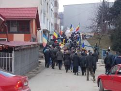 In Campeni a avut loc o noua actiune de protest impotriva exploatarii miniere de la Rosia Montana
