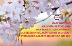 """ONG Mare Nostrum va invita la cea de-a zecea editie a evenimentului """"Martisorul Ecologic""""."""