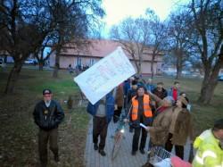 1.000 de persoane au protestat in comuna aradeana Macea, impotriva explorarii gazelor de sist