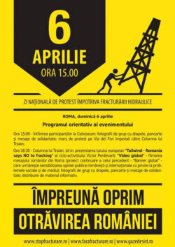Roma, 6 aprilie, ora 15: Protest contra gazelor de şist, între Colosseum şi Columna lui Traian