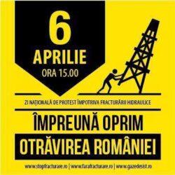 Noi proteste impotriva exploatarii gazelor de sist in 60 de orase din Romania si strainatate