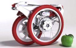 O bicicleta in servieta pentru orase ecologice