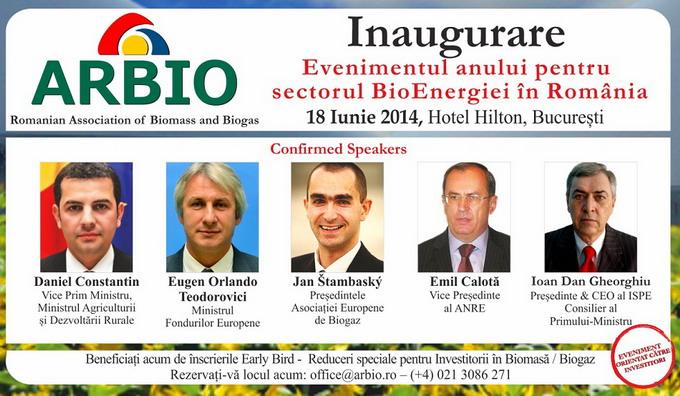 Inaugurarea Asociatiei Romane de Biomasa si Biogaz (ARBIO)