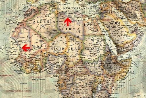 Vestul Africii ar ajunge sub ape, iar terenurile de pe coasta de nord a Africii ar fi revendicate de Marea Mediterana.