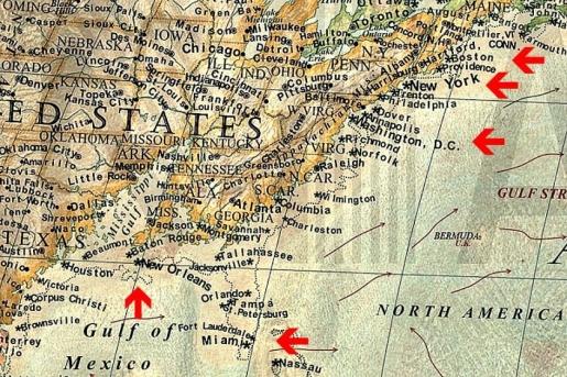 New York, Miami, New Orleans ?i alte ora?e de pe coasta Atlanticului, al?turi de Florida ?i coasta Golfului Mexic, ar disp?rea.