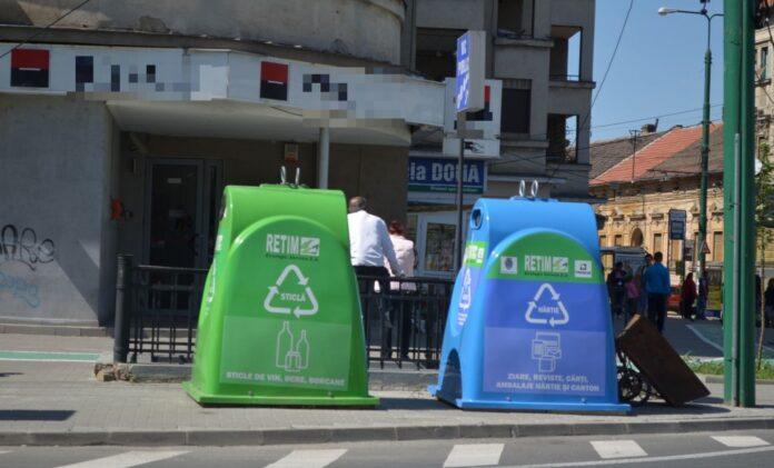 Clopote colorate pe strazile din Timisoara pentru colectarea selectiva a sticlei si hartiei! Unde a pus Retim containerele in oras?