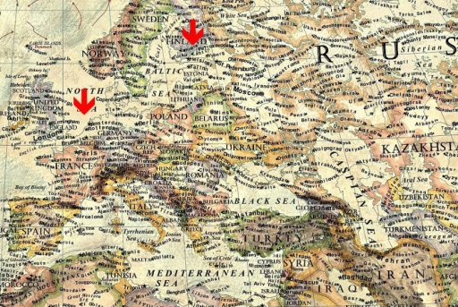 Danemarca, Olanda, Tarile Baltice, Anglia si Belgia ar disparea.