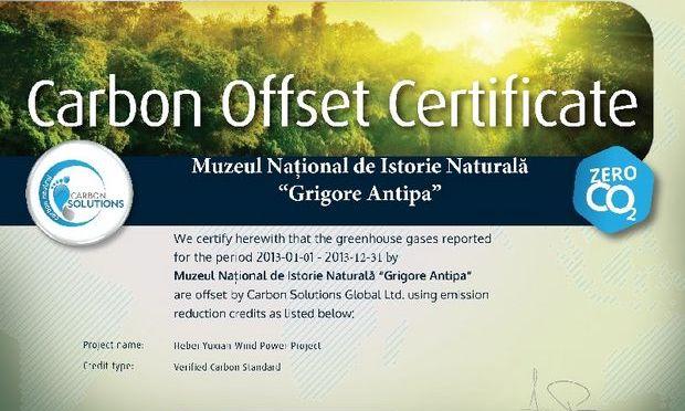 Antipa, primul muzeu carbon neutru din Europa