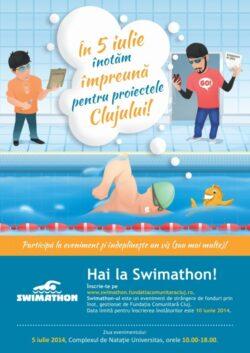 Clujenii strang fonduri pentru proiectele comunitatii la cea de a sasea editie a Swimathon Cluj