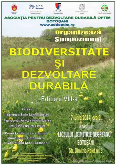 """Simpozionul interjudetean """"Biodiversitate si Dezvoltare Durabila"""", la Botosani"""
