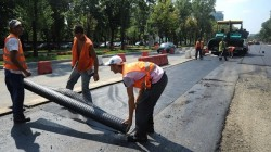 Asfalt cauciucat si metrou, pentru combaterea poluarii fonice in Timisoara