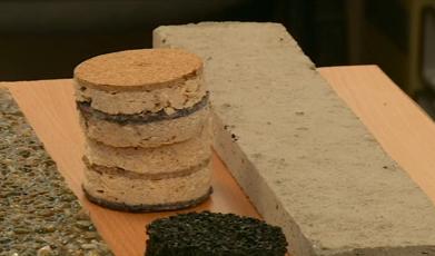 O tanara din Cluj a inventat peretii din deseuri