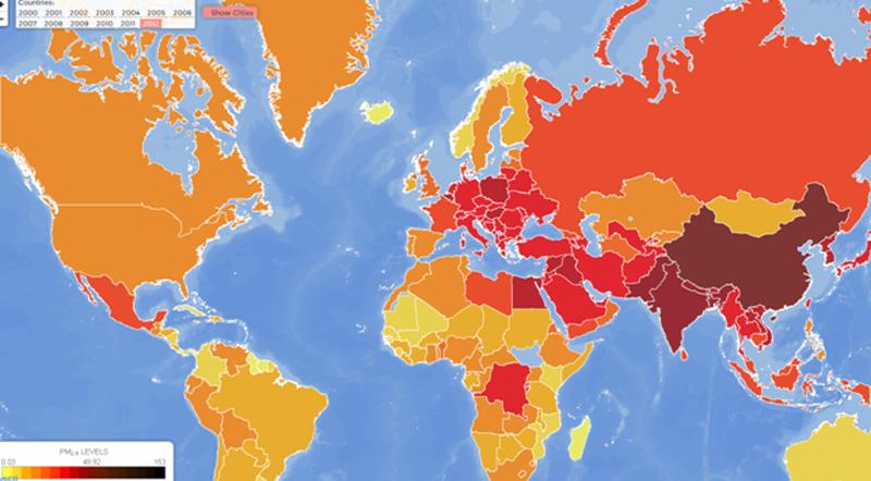 Harta poluarii aerului: Care e situatia in Romania