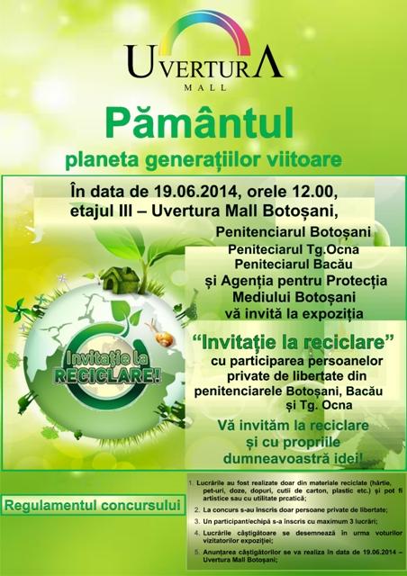 """Uvertura Mall gazduieste a doua editie a concursului """"Invitatie la reciclare"""""""